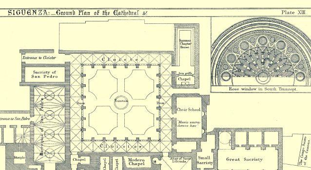 plano catedral de sigüenza